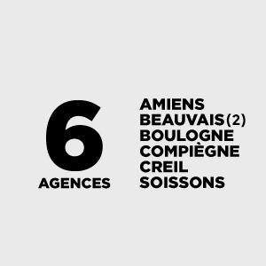 6 agences