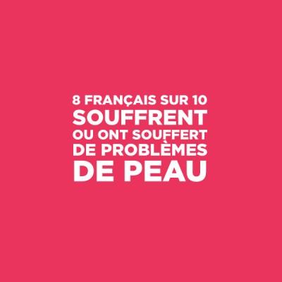 8 français sur 10 souffrent ou ont souffert de problèmes de peau