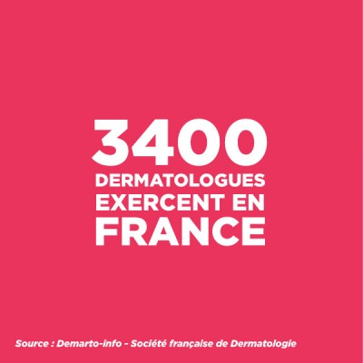 3400 dermatologues exercent en France