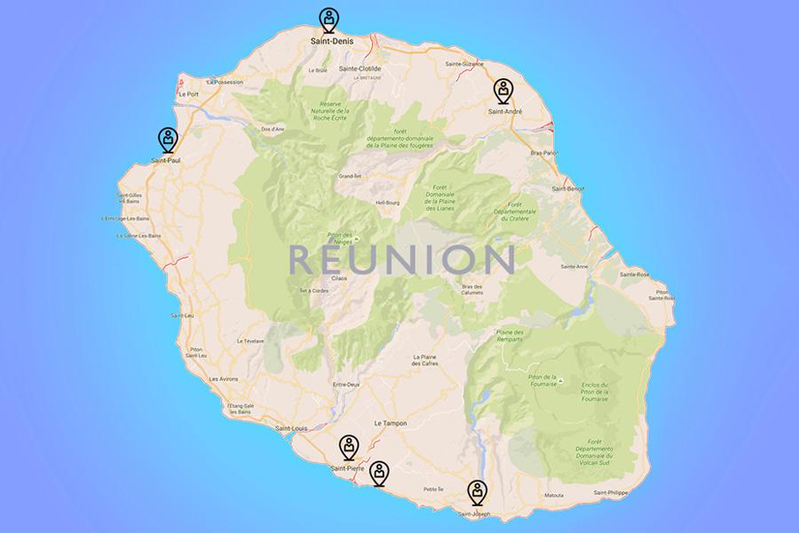 Map Réunion